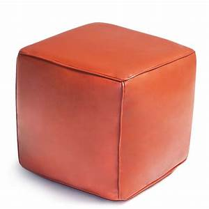 Cube Leather Moroccan Pouf