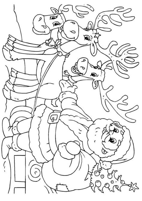 Kleurplaat Arreslee by Kleurplaat Kerstman Met Rendieren Afb 23062