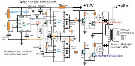 Pure Sinewave Inverter Circuit
