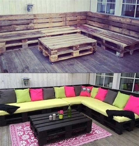 top  genius diy outdoor pallet furniture designs
