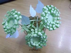 Paper, Crafts, Paper, Chrysanthemums