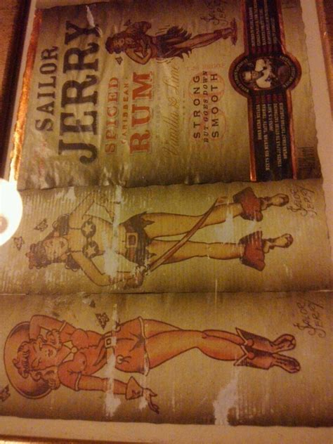 Sailor Jerry Home Decor by Sailor Jerry Framed 183 A Framed Decoration 183 Collage On Cut