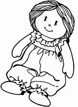 Coloring Paper Doll Pages Printable sketch template