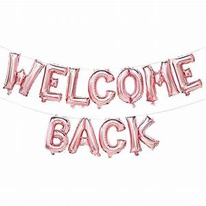 Rose Gold Welcome Back Balloon Banner | Welcome Back Party ...