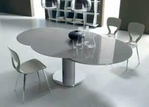 designer esstisch rund esstisch rund ausziehbar glas mit chrommetall tisch bodenplatte cbsundstrom kreative ideen