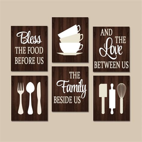 kitchen design quotes kitchen quote wall kitchen canvas or prints bless food 1328