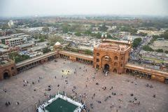jama masjid  delhi india stock image image