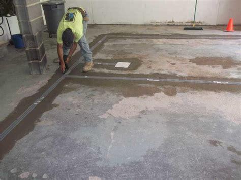 garage drainage solutions baker s waterproofing basement waterproofing photo album garage floor waterproofed with