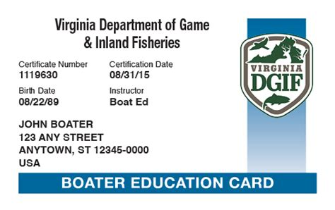 Boating License Washington Test by Boater Education Card Poemview Co