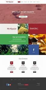 Charity Website Template Psd  U203a Free Web Templates  U00bb Css Author