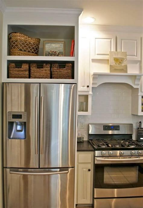 kitchen cabinet makeovers best 25 built in refrigerator ideas on 2605