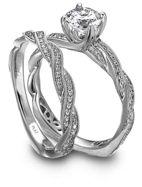 Simon G Paveset Diamond Twist Engagement Ring