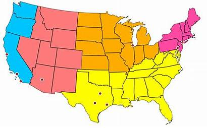 States Cities United Svg Divisions West Map