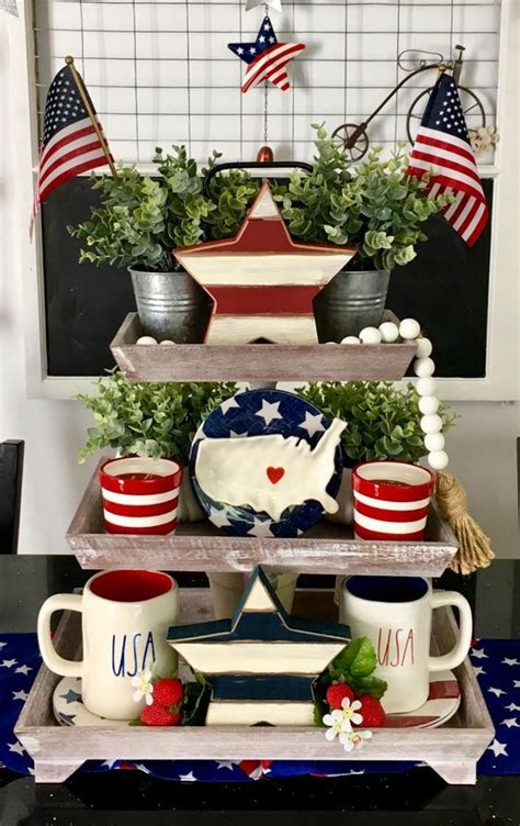 july  tiered tray decoration ideas  glam   home