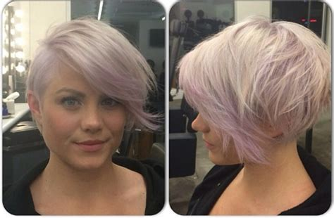 Red Diagonal Forward Bob Haircut Low Maintenance Celebrity Hairstyles Hair Salon Canary Wharf Fall Inspired Modern Haircuts Campbell Short Haircut Round Face 2015 Japanese Wavy Men's Or Square Step By Updo For Thin