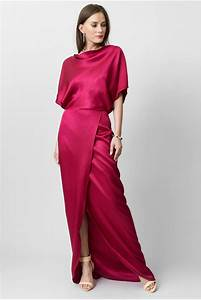 raspberry coloured silk dress c39est ma robe With robe en soie bleue