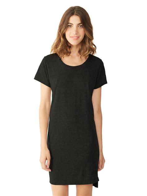 t shirt dresses lyst alternative apparel eco jersey t shirt dress in black