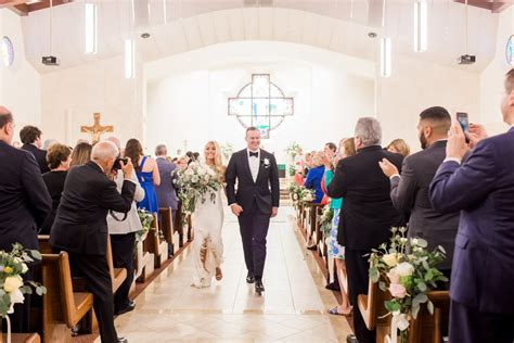 Traditional Bride and Groom Wedding Ceremony Exit Tampa