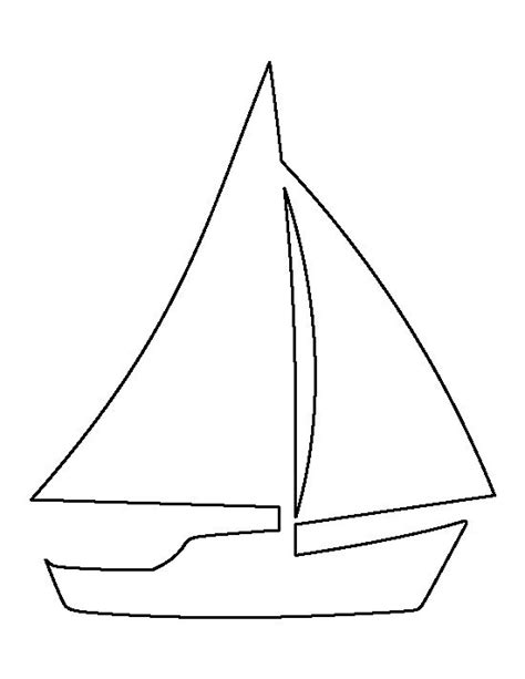 sailboat template sailboat pattern use the printable outline for crafts creating stencils scrapbooking and