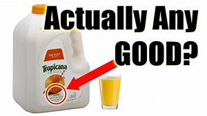 Tropicana Pure Premium Orange Juice  Never From Concentrate  Completely Random Review