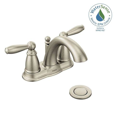 Moen Brantford Kitchen Faucet by Moen Brantford 4 In Centerset 2 Handle Low Arc Bathroom