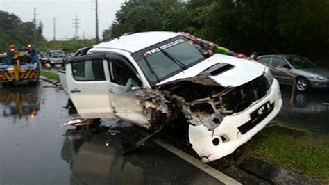 Latest Car Accident Of Toyota Hilux  Road Crash