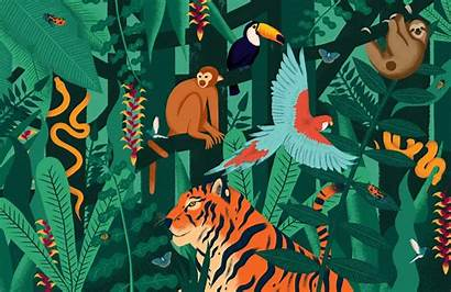 Jungle Animals Mural Murals Wallpapers Muralswallpaper Animal