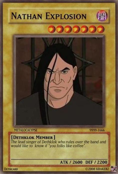Nathan Explosion Memes - brutal meme metalocalypse quotes