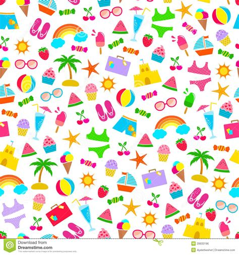 Summer Pattern Royalty Free Stock Image  Image 29933196