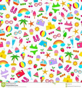 Summer Pattern Royalty Free Stock Image - Image: 29933196