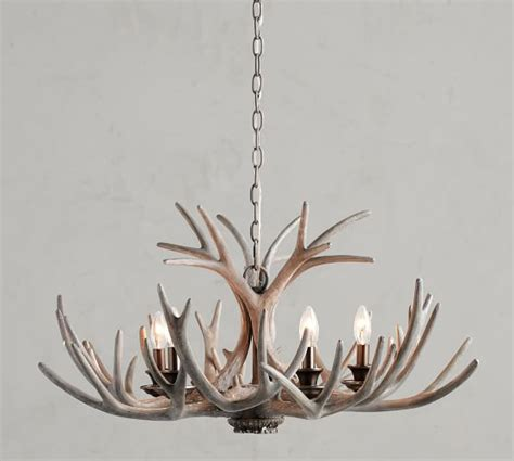 pottery barn antler chandelier faux antler chandelier weathered gray pottery barn