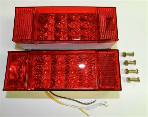 Led Submersible Trailer Lights by 1 Pair Miro Flex Led Submersible Combination Rectangular