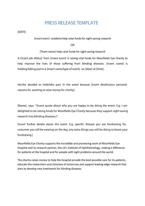 employee announcement press release sample daily