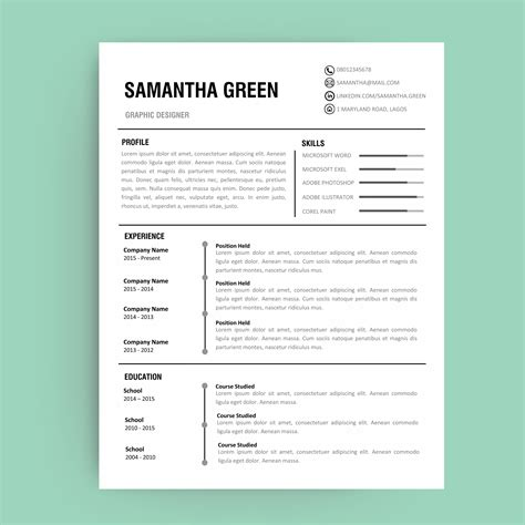 What Does Pad Your Resume by Editable Resume Template Curriculum Vitae Template