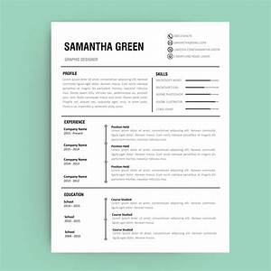 editable resume template annecarolynbird With curriculum vitae pdf editable