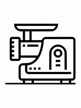 Colorear Dibujos Picadora Carne Imprimir Gratis Grinder Meat sketch template