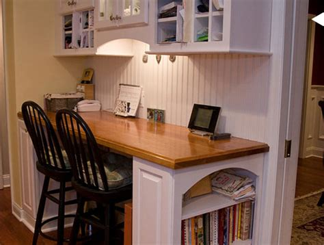 desk in kitchen ideas shine your light kitchen office area
