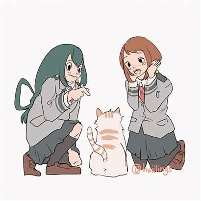 Bnha Cats Hero Academia Characters Tsuyu Anime