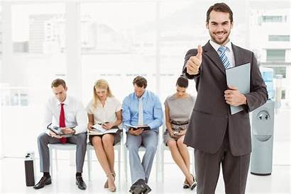 Interview Job Waiting Prepare Gesturing Omhoog Candidarsi