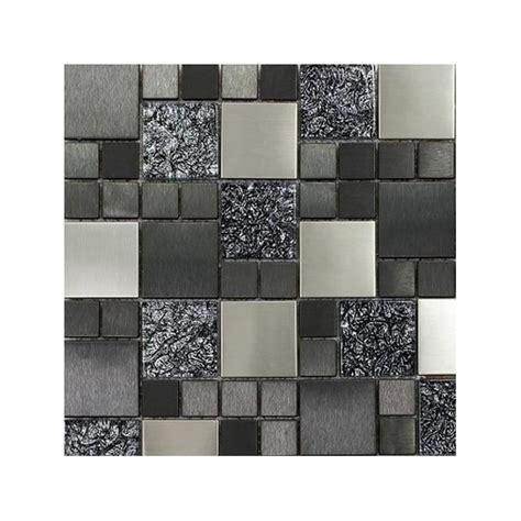 metallic random 30cm x 30cm silver mix mosaic