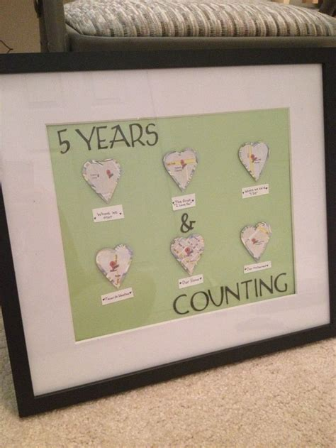 diy 5th wedding anniversary gift ideas best 25 5 year anniversary gift ideas on pinterest diy