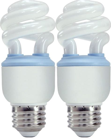 ge reveal spiral cfl  watt  watt equivalent light