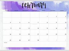 February 2019 Calendar A4 [Download] February 2019