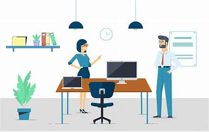 Vector Office Illustration Adsense Desktop Placement Optimizing