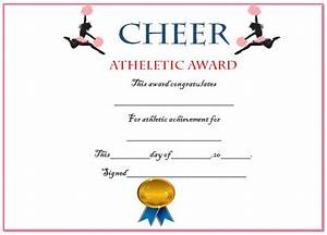 20 free printable cheerleading certificate templates for coaches kids demplates for Cheerleading certificate templates