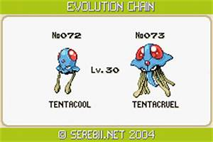 Pics For > Tentacool Evolution