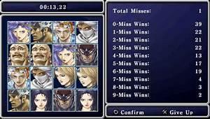 Final Fantasy II Concentration Mini Game