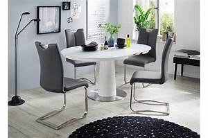 Table Ronde Extensible Design : table ronde avec rallonge pied central ~ Teatrodelosmanantiales.com Idées de Décoration