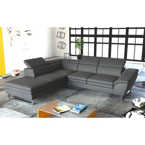 canapé d angle semi cuir canapé d 39 angle milin