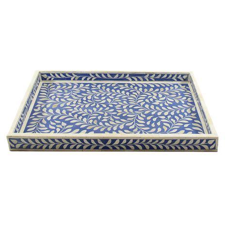 decorative tray leaves motif decorative bone inlay tray roomattic